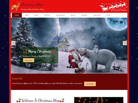 christmas homepage themes theme directory free wordpress themes