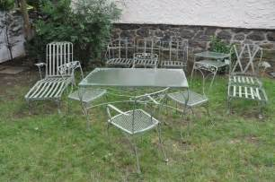 vintage patio furniture wrought iron chicpeastudio
