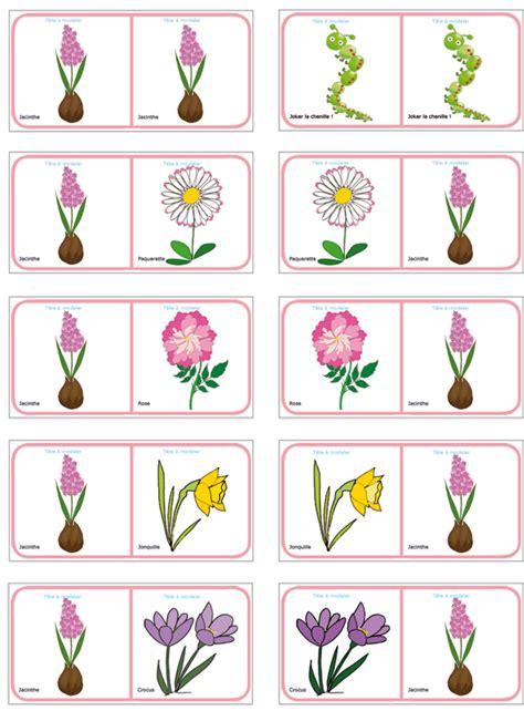 Planche 13 Des Dominos Sur Les Fleurs De Printemps Et D