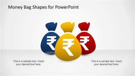 money bags with indian rupee powerpoint template slidemodel