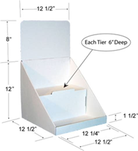 New 12 Inch Two Tier Counter Display Cardboard Counter Display Template