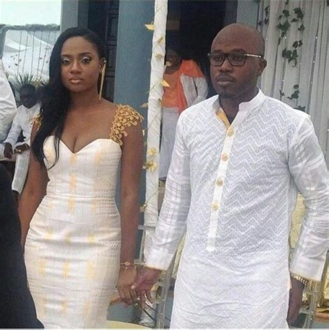 Ghana Most Beautiful Afiba Wedding | white and gold latest african fashion african prints