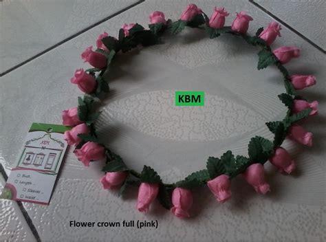 flower crown mahkota bunga untuk foto atau bayi