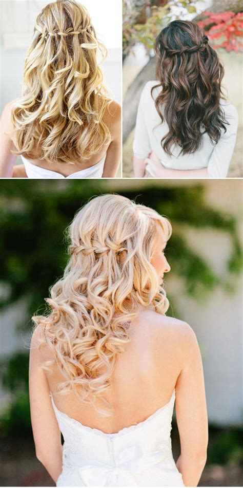 Wedding Hair Waterfall Braid by 21 Wedding Hairstyles For Hair More