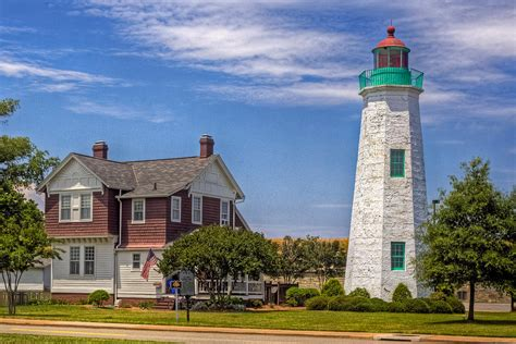 old point comfort old point comfort lighthouse photograph by jerry gammon
