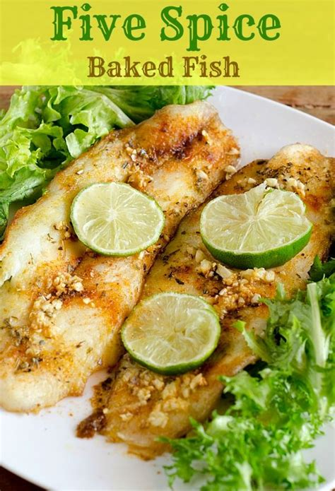 Healthy Fast Dinner Spiced Fish 5 spice baked fish easy baked fish recipe baked fish