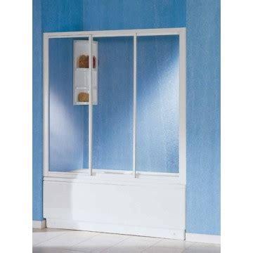 box doccia tre ante parete vasca scorrevole a tre ante cm 117 123 cristallo