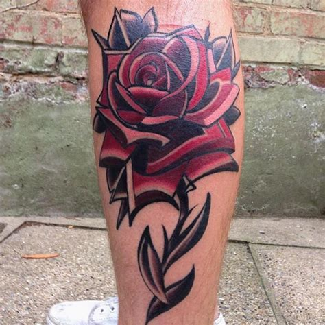 rose leg tattoo tattoos best ideas gallery part 2