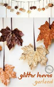 Baby Shower Funny Gifts - diy glitter leaves garland top easy design idea for thanksgiving decor project easy idea
