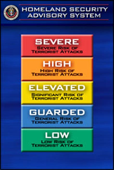 terror threat level colors u s national security state