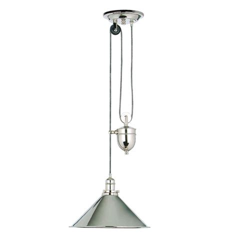 lighting direct provence rise and fall fitting polished nickel lighting direct
