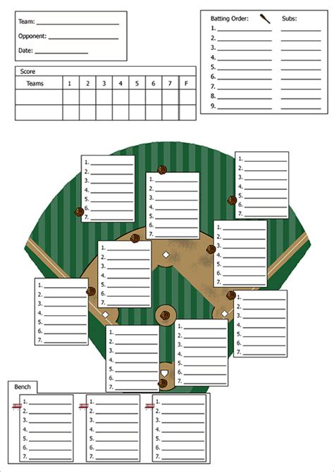printable baseball lineup card template 9 baseball line up card templates doc pdf psd eps