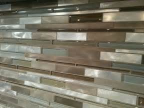 mixed glass and metal tile backsplash gt sk tile