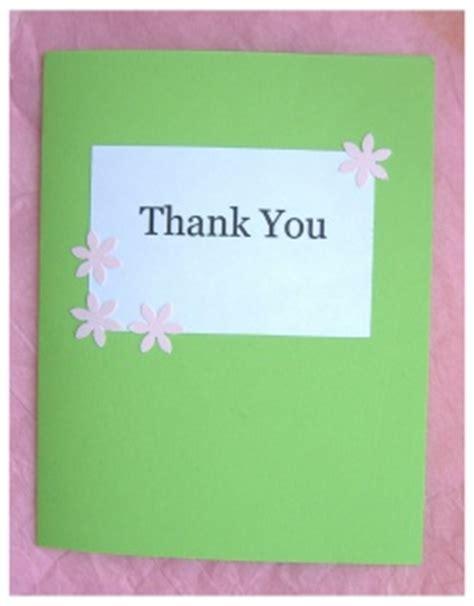 Easy Handmade Thank You Cards - diy custom thank you card ideas