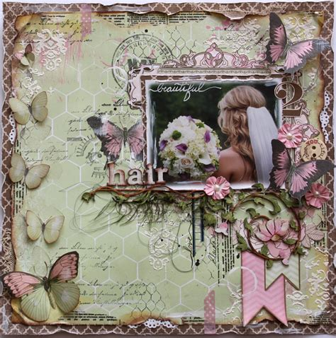 scrapbook layout gallery layout beautiful hair new bo bunny s primrose