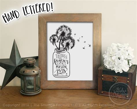 jar printable file dandelion wall