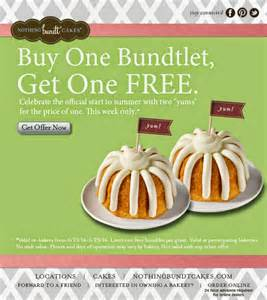 fun living frugal free bundtlet from nothing bundt cakes