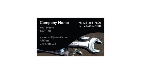 template business card mechanic mechanic business cards zazzle
