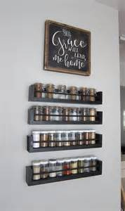 ikea wall mounted spice rack kitchen wall spice rack small changes big impact