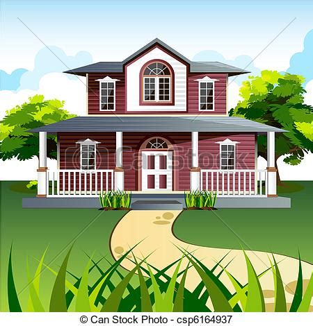Victorian House Plans Free sweet home illustration of front view of house in natural