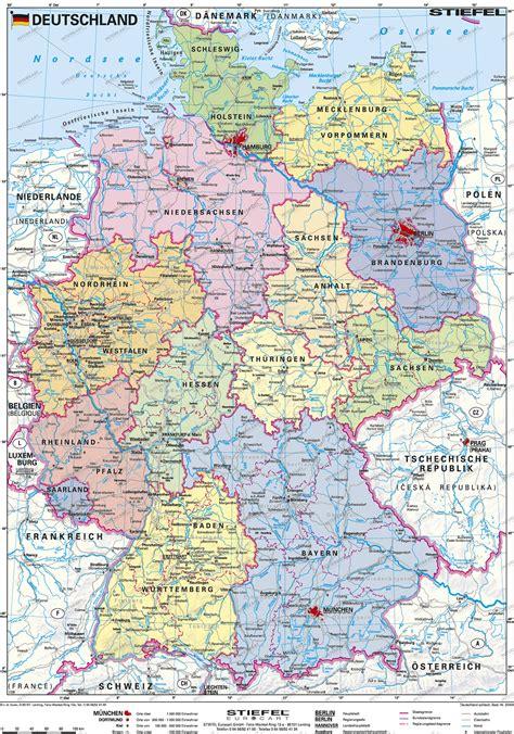 karta deutschland politische landkarte deutschland my