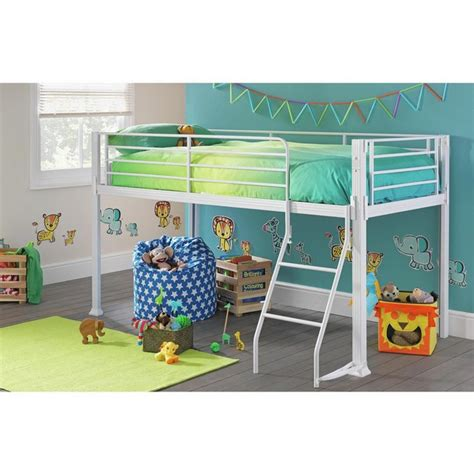 buy home boltzero metal mid sleeper bed frame white at