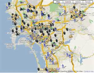San Diego Crime Map by San Diego Crime Maps Spotcrime The Public S Crime Map