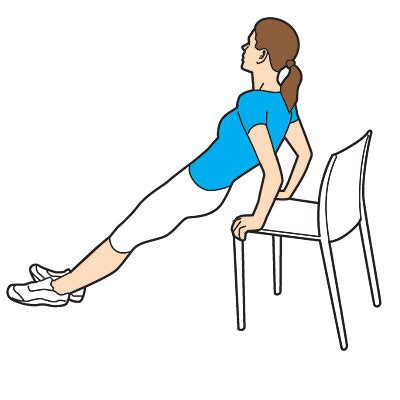 Chair Push Ups triceps push ups get fit where you sit health
