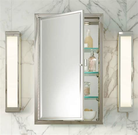 chrome framed medicine cabinet 20 tips for an organized bathroom