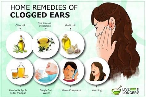 what are some home remedies for clearing a clogged ear