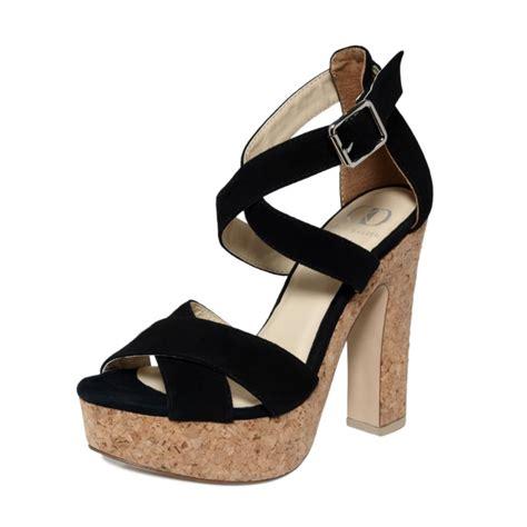 Shoe And Dolly Dagger Team Up For An Exclusive Shoe Range by Kelsi Dagger Malyssa Platform Sandals In Black Black