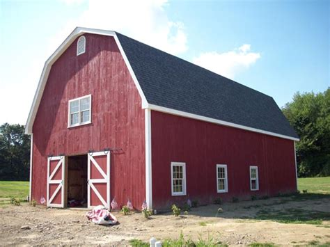 Gambrel Barn Kits | gambrel style wood barn kit post and beam barn kit