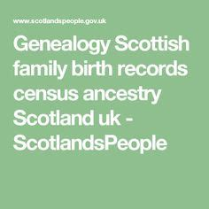 Scottish Birth Records Criminal Record Ancestry And We On