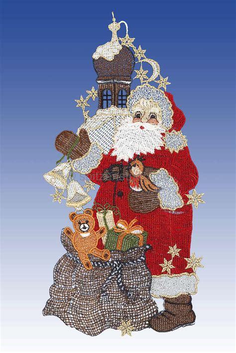 Weihnachtsdeko Fenster Günstig Kaufen by Fensterbilder Plauener Spitze Weihnachten Santa Claus