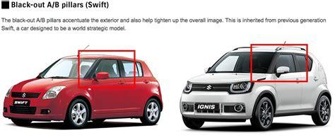 End Pillar Pilar Belakang Suzuki Ignis suzuki explains where the ignis gets it design mojo from