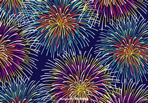 firework background colorful fireworks vector background free