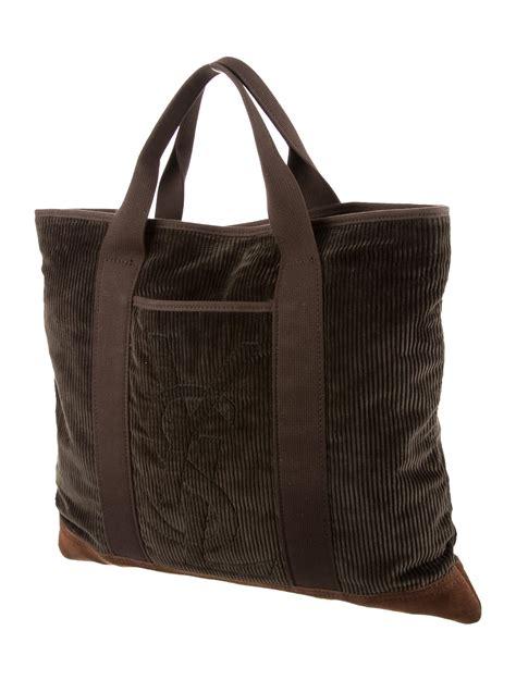 yves saint laurent logo embellished velvet tote bags