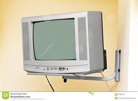 on walls an tv on the wall stock image image 24881531