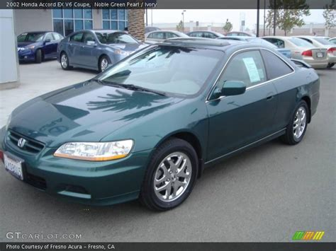 2002 green honda accord 2002 honda accord ex v6 coupe in noble green pearl photo