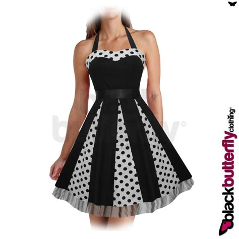 swing dress size 24 new black polkadot rockabilly 1950 s 1960 s vintage swing