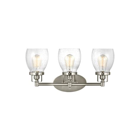 21 Amazing Bathroom Light Fixtures Brushed Nickel Eyagci Sea Gull Lighting Belton 21 In W 3 Light Brushed Nickel Bath Light 4414503 962 The Home Depot