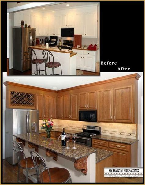 refaced kitchen cabinets before and after kitchen cabinet refacing hac0 com