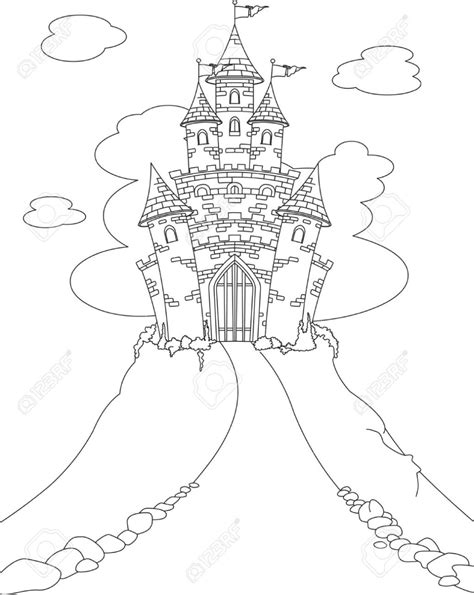 fairy door coloring page coloring page magic fairy tale princess castle royalty