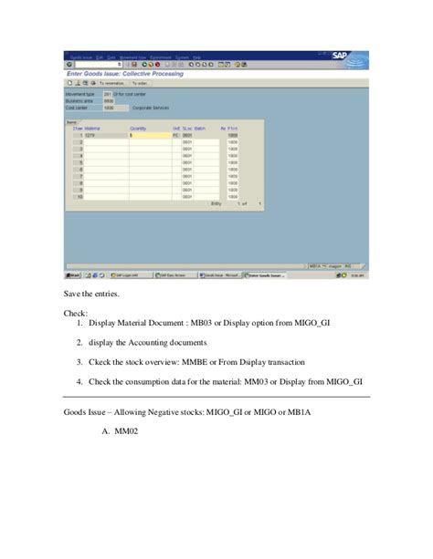 sap rest tutorial free sap tutorial on goods issue