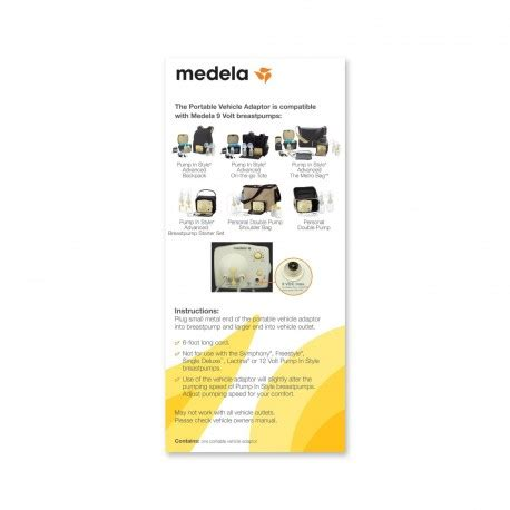medela 12 volt vehicle lighter adaptor amedsupplies