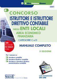 diritto degli enti locali dispense istruttore e istruttore direttivo contabile negli enti