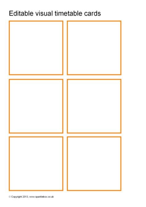 Editable Docbusiness Card Template by Editable Visual Timetable Card Templates Sb9169 Sparklebox