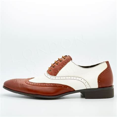 two tone mens oxford shoes new mens two tone oxford brogues lace up formal gangster