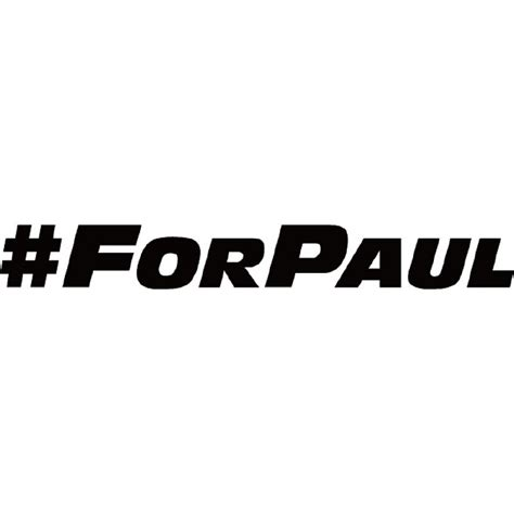 Paul Walker Car Sticker
