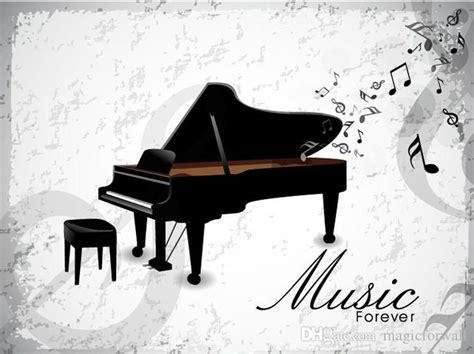 poster design notes music forever piano wall art mural poster decor musical